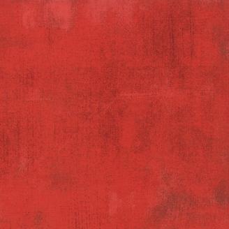 Tissu patchwork faux-uni patiné rouge radis - Grunge de Moda