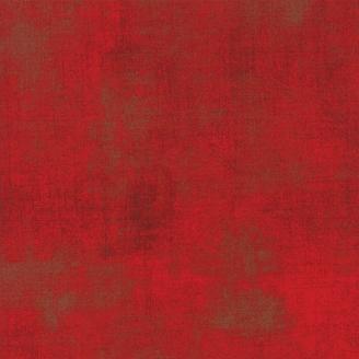Tissu patchwork faux-uni patiné rouge pomme d'amour - Grunge de Moda