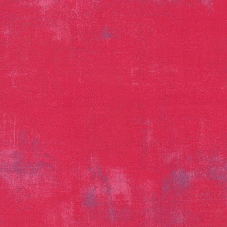 Tissu patchwork faux-uni patiné framboise - Grunge de Moda