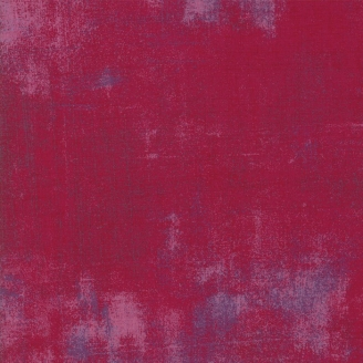 Tissu patchwork faux-uni patiné rouge-brun - Grunge de Moda