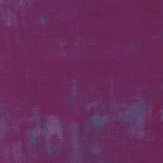 Tissu patchwork faux-uni patiné prune - Grunge de Moda