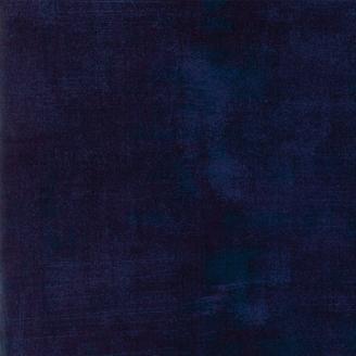 Tissu patchwork faux-uni patiné bleu caban - Grunge de Moda