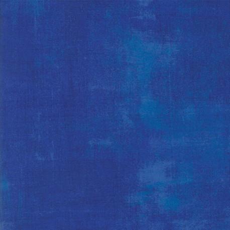 Tissu patchwork faux-uni patiné bleu surf - Grunge de Moda