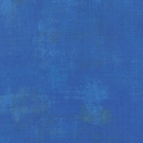 Tissu patchwork faux-uni patiné bleu royal - Grunge de Moda