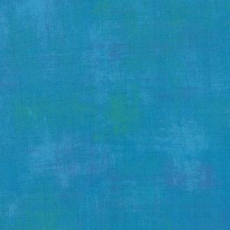 Tissu patchwork faux-uni patiné turquoise - Grunge de Moda