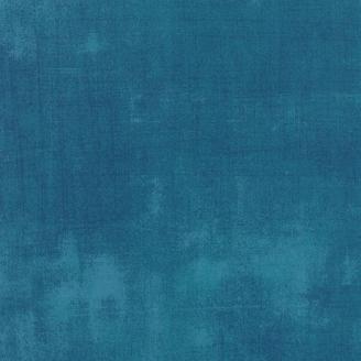 Tissu patchwork faux-uni patiné bleu horizon - Grunge de Moda