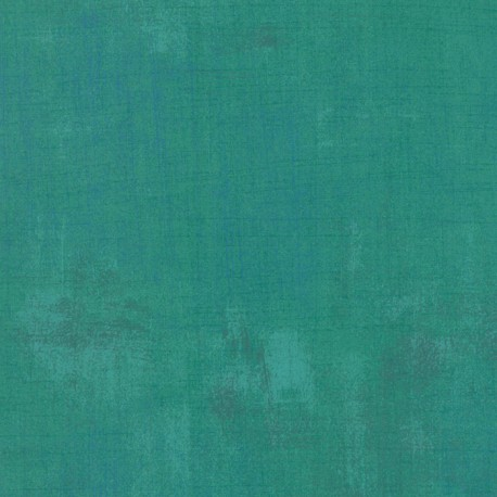 Tissu patchwork faux-uni patiné jade - Grunge de Moda