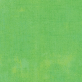Tissu patchwork faux-uni patiné vert kiwi - Grunge de Moda