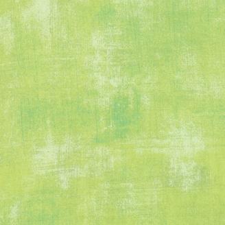 Tissu patchwork faux-uni patiné vert lime - Grunge de Moda