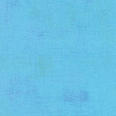 Tissu patchwork faux-uni patiné bleu ciel - Grunge de Moda