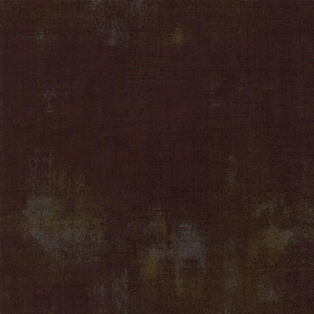 Tissu patchwork faux-uni patiné brun bison - Grunge de Moda