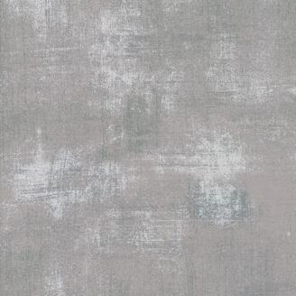 Tissu patchwork faux-uni patiné gris argent - Grunge de Moda