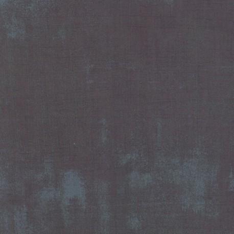Tissu patchwork faux-uni patiné gris plomb - Grunge de Moda