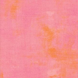 Tissu patchwork faux-uni patiné rose saumon - Grunge de Moda