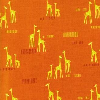 Tissu patchwork girafes fond fauve - Safari life de Moda