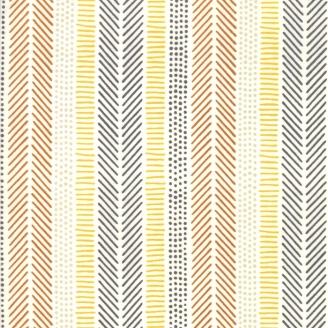 Tissu patchwork rayures africaines fond écru - Safari life de Moda