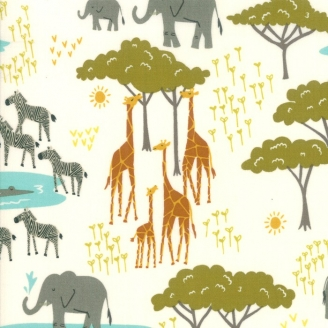 Tissu patchwork point d'eau dans la savane - Safari life de Moda