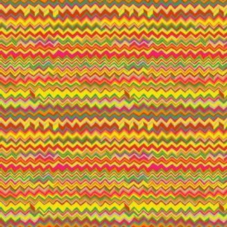 Tissu patchwork Motif Zig Zag bright
