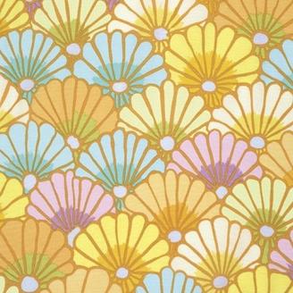 Tissu Kaffe Fassett jaune Thousand flowers