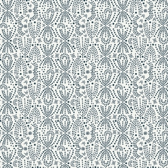 Tissu patchwork constellations noires stylisées fond écru - Lugu