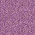 Tissu patchwork inspiration Klimt volutes lilas - Gold Scroll