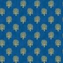 Tissu patchwork inspiration Klimt arbres fond bleu - Rhapsody
