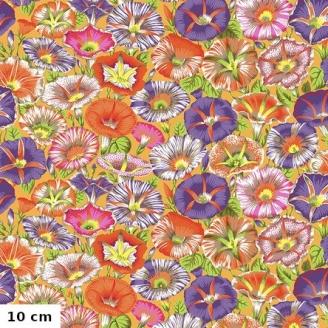 Tissu patchwork Philip Jacobs Belles de jour PJ098 orange