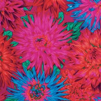 Tissu Philip Jacobs Cactus Dahlia PJ54 magenta