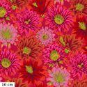 Tissu patchwork Philip Jacobs Fleur de Cactus PJ096 rouge