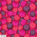 Tissu patchwork Philip Jacobs Oursins PJ100 rouge