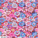 Tissu patchwork Philip Jacobs Belles de jour PJ098 rouge