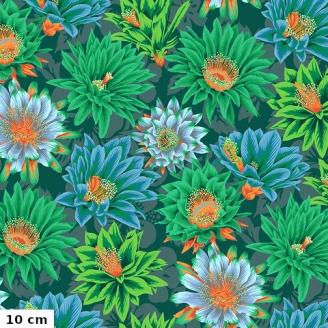 Tissu patchwork Philip Jacobs Fleur de Cactus PJ096 vert