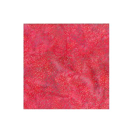 Tissu batik rouge Cranberry pétillant