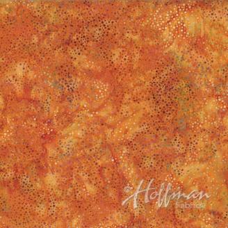 Tissu batik roux Mardi-Gras pétillant