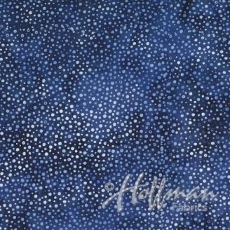 Tissu batik bleu profond pétillant