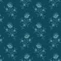 Tissu patchwork fleurs bleu royal - Royal Blue d'Edyta Sitar
