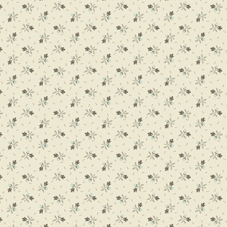 Tissu patchwork petites fleurs bicolores fond écru - Royal Blue d'Edyta Sitar