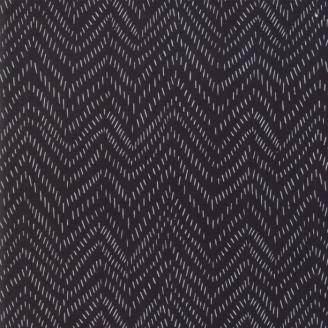 Tissu imprimé traits en chevrons fond noir - Bramble de Moda