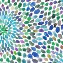 Tissu patchwork rosaces en nuances de bleus - In the groove