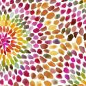 Tissu patchwork rosaces en nuances chaudes - In the groove