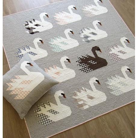 Les Cygnes - Modèle de patchwork d'Elizabeth Hartman (Swan Island)