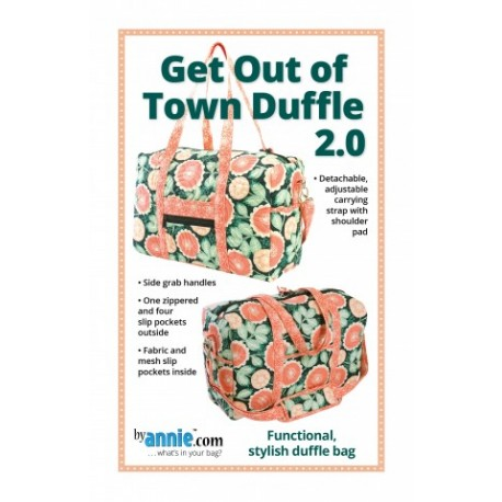 Patron sac de voyage Get Out of Town Duffle 2.0 - By Annie (en anglais)
