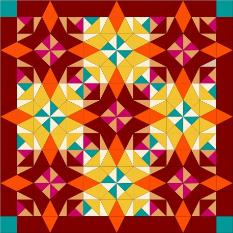 ARLEQUIN orange - kit de patchwork