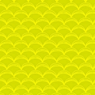 Tissu patchwork arcs vert anis ton sur ton - Good Vibes only