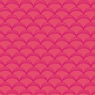 Tissu patchwork arcs roses ton sur ton - Good Vibes only