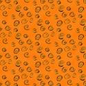 Tissu Laurel Burch jaune d'or à spirales dorées - Feline Frolic