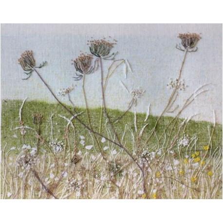Paysages et fleurs brodées de Liz Maidment