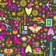 Tissu patchwork Découpage fond encre - Handiwork d'Alison Glass