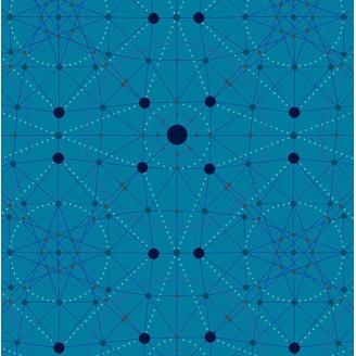 Tissu patchwork Schémas bleu topaze - Declassified