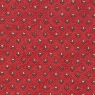 Tissu patchwork fleurette rouge carmin ton sur ton - Chafarcani de French General
